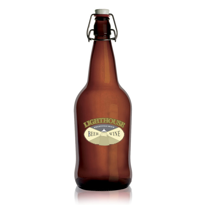 Flip Top Amber Growler
