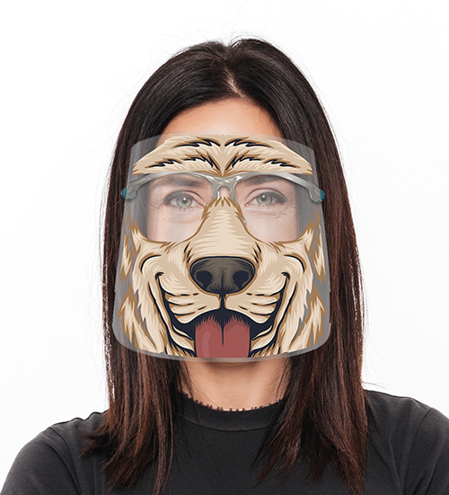 Animal Print Adjustable Face Shield