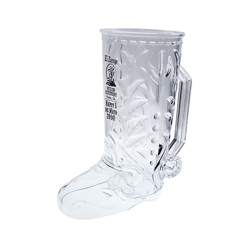 20 oz Styrene Cowboy Boot Beer Mug